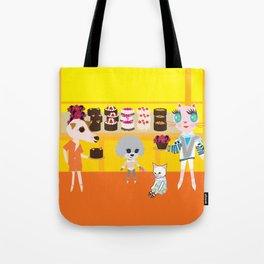 fashionista cats cake Tote Bag