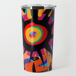 Black Sun is shining Abstract Art Street Graffiti Travel Mug