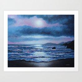 Breaking Waves, Coumeenole Beach, Dingle Peninsula Art Print