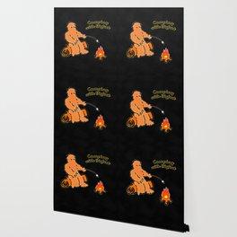 Camping With Bigfoot Wallpaper