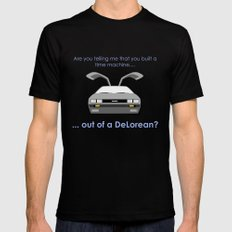 Back to the Future - Delorean Mens Fitted Tee Black MEDIUM