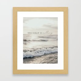 The Ocean Is Calling Framed Art Print