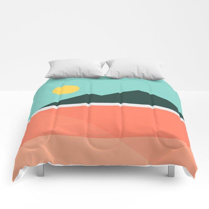Geometric Landscape 16 Comforters