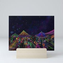 Magical Night Market Mini Art Print