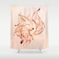 fox Shower Curtains featuring Fox  by LouJah