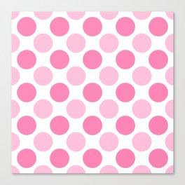 Pink polka dots Canvas Print