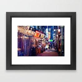 Shinjuku alley Framed Art Print