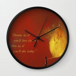 The Lone Leaf Wall Clock
