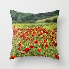 Poppies, Poppies, Poppies Throw Pillow