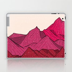 The falling snow and the mountains Laptop & iPad Skin