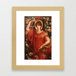 A Vision of Fiammetta 1878 Dante Gabriel Rossetti Framed Art Print