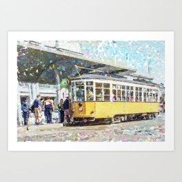 San Francisco Muni F Car at Embarcadero Station by Mark Gould Art Print