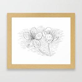 INK FLOWER Framed Art Print