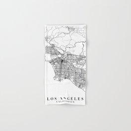 Los Angeles California Street Map Minimal Hand & Bath Towel