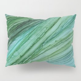 Green Agate Geode Slice Pillow Sham