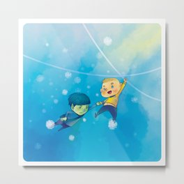 Spirk winter adventure Metal Print