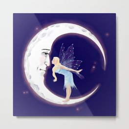 Fairy Moon Metal Print