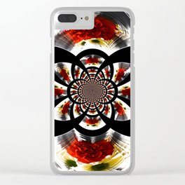 Mirror Image Abstract Clear iPhone Case