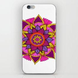 mandala rosa iPhone Skin