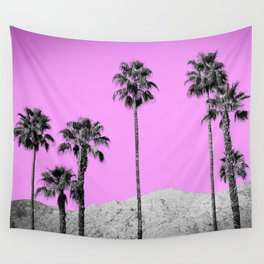 Pink Palm Trees / Desert / Palm Springs Wall Tapestry