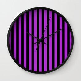 Stripes Black and Purple Wall Clock