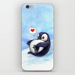 Roly Poly Penguin iPhone Skin
