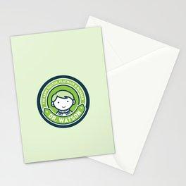 Cute John Watson - Green Stationery Cards