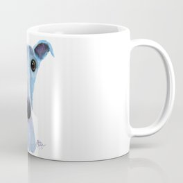 Nosey Dog Whippet Greyhound ' BLUEBELL ' by Shirley MacArthur Coffee Mug