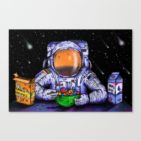 Astronaut's Breakfast Canvas Print