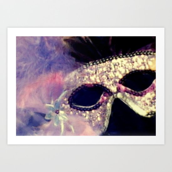 Mardi Gras Mask Art Print