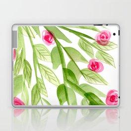 Pink Rosebuds in Watercolor Laptop & iPad Skin