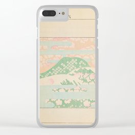 Japanese Mountain Clear iPhone Case