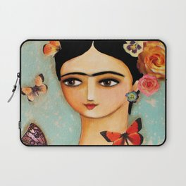 Frida Collage with Butterfly and Rose Laptop Sleeve