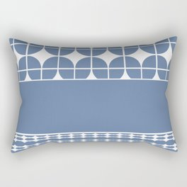 Decorative Cool Blue and White Pattern Design Rectangular Pillow