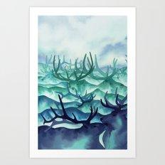 Herding Mountains Art Print