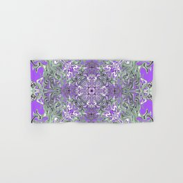 Lilac and Pink Pattern Hand & Bath Towel