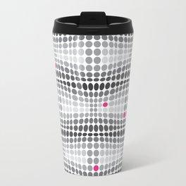 Dottywave - Grey and pink wave dots pattern Travel Mug
