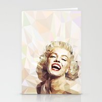 low poly Stationery Cards featuring Marilyn low poly by Pinkpulp