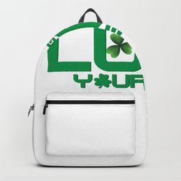 Good Luck Yourself Vintage St Patricks Day Backpack