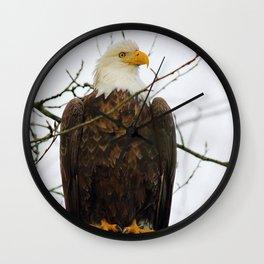 Bold Eagle Wall Clock