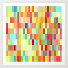 colorful rectangle grid Art Print