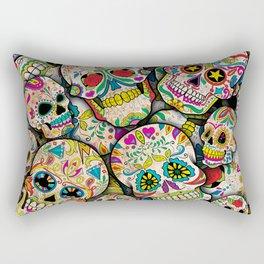 Sugar Skull Collage Rectangular Pillow