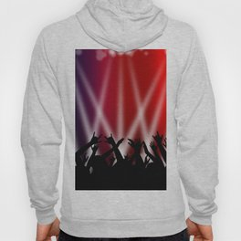 Dancing Crowd With Multi Colour and White Spotlights Hoody