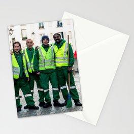 Parisian Mugshots - Green Angels (Gueules de Parisiens) Stationery Cards