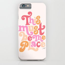 This Must Be the Place (Pink Palette) iPhone Case