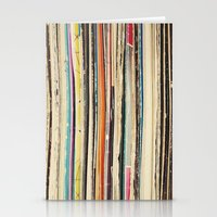 record Stationery Cards featuring Record Collection by Cassia Beck