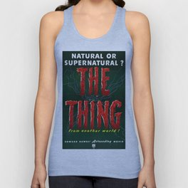 The Thing, Vintage Horror Movie Poster Unisex Tank Top