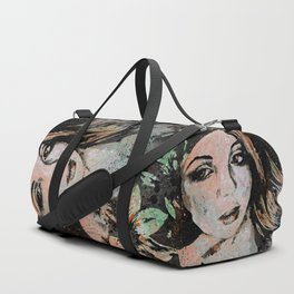 Ruined Our Everything (graffiti flower lady portrait) Duffle Bag