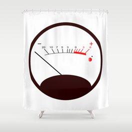 Round VU Meter No Signal Shower Curtain