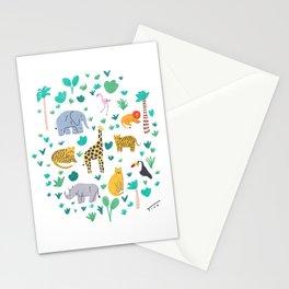 Jungle Animals Illustration Stationery Cards